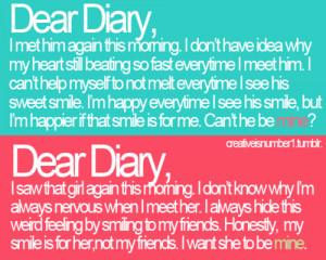 Beautiful Boy Couple Cute Dear Dear diary Diary Fashion Friends Girl ...