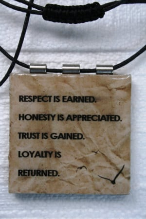 Speak with Quotes!!!! Respect is Earned!
