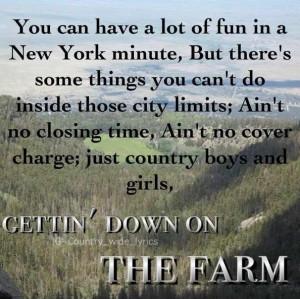down on the farm Tim McGraw