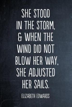 inspirational quotes, adjust your sails