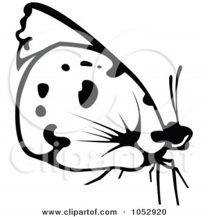... Royalty Free Vector Clip Art Illustration Of A Black And White Flying