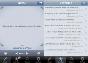 Reference App Quotes Folder for iPhone, iPod Touch and iPad