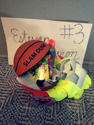 Turn a basketball into a basket for Senior Night!