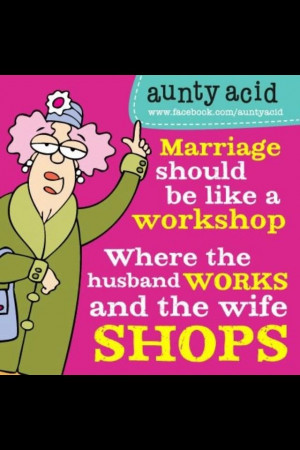 Aunty Acid Quotes For Husbands