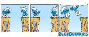 smurfs collector bulletin board system funny smurf comic
