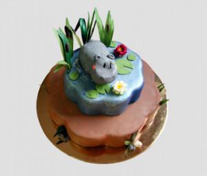 Funny Rhino Cake