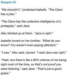 ... Hunters, Shadowhunter, Book, Pineapple, The Mortal Instruments Quotes