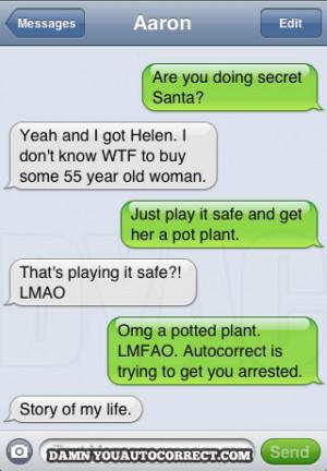 funny auto-correct texts - Classic Christmas DYAC: Secret Santa