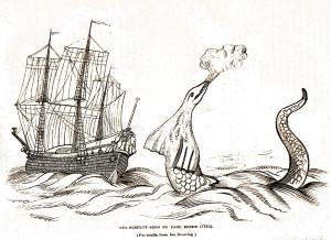 Vintage Clip Art- Sea Serpent
