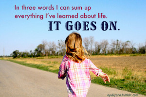 ayuliyana:Life goes on…