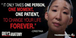 It only takes one person, one moment, one patient, to change your ...