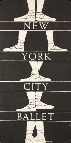 Edward Gorey 1960s poster for New York City Ballet