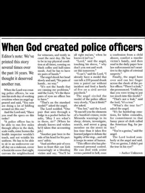 Police Officer Quotes And Poems When god created police