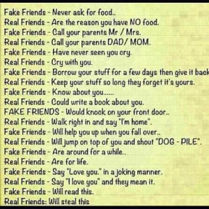 FAKE FRIENDS / REAL FRIENDS