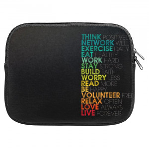 Multiple Positive Words Motivational Quotes Zipper Pouch