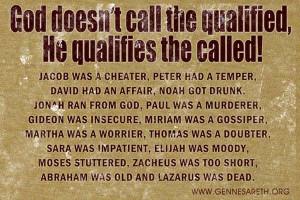 Jacob was a cheater, Peter had a temper, David had an affair, Noah got ...
