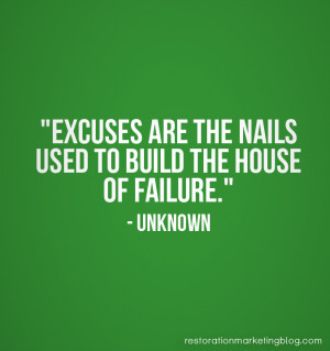 Restoration-Marketing_Business-Quotes_Excuses