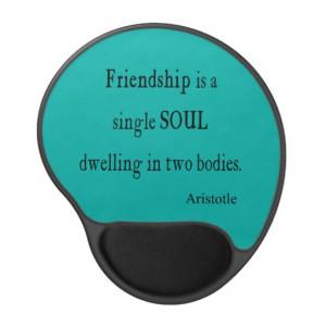 Vintage Aristotle Friendship Single Soul Quote Gel Mouse Mats