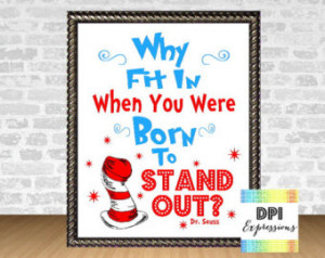 Dr. Seuss Quote Art Print,