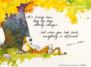 deep and nothing Calvin and Hobbes growing up Hobbes grow up ...