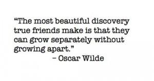 Oscar Wilde Quote - Friends