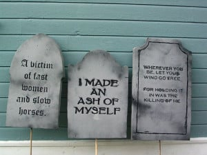 Homemade Tombstones – Results