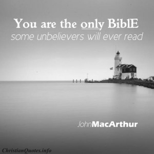John MacArthur Quote - The Bible to Unbelievers - lighthouse in black ...