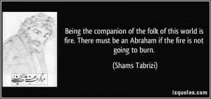 Shams Tabrizi Quotes Love