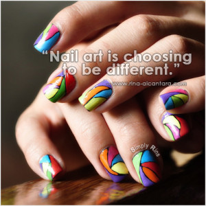 Nail art used in photo is Colorful Abstract