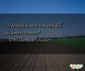 Quotes about Sickness