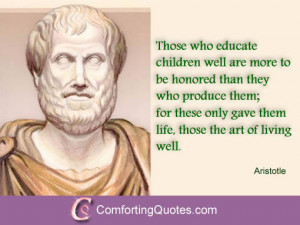 Aristotle Quotes About Education and Art of Living