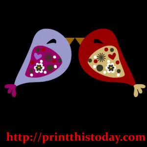 cute love birds clipart
