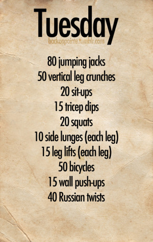 Fit & Firm: Daily Workout Plan