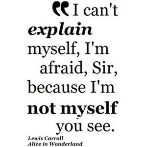 Lewis Carroll quote Alice