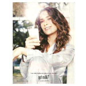 SALMA HAYEK got milk? Milk Mustache Magazine Ad SPANISH LANGUAGE