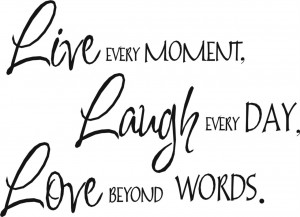 Details about WALL QUOTE ART STICKER LIVE LAUGH LOVE (3 sizes)