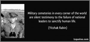 Military cemeteries in every corner of the world are silent testimony ...