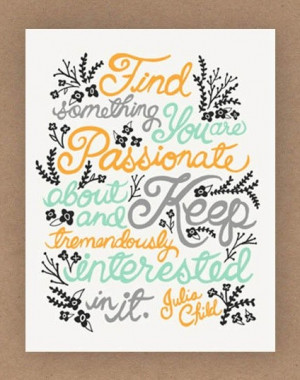 Chef, julia child, quotes, sayings, illustration print