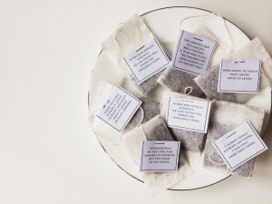 18 different quotes armed with the quotes i designed a simple tea bag ...