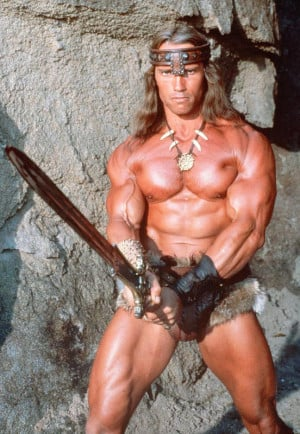 ... the crapfest that was the conan the barbarian remake that starred the