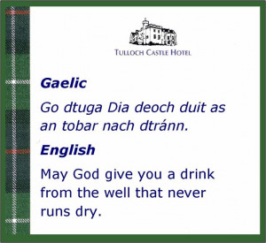 Scottish proverb in Gaelic and English. I love this one. http ...