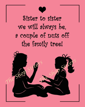 Big Sister Quotes And Poems Sisters poem silhouette pink