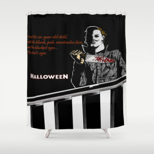 Michael Myers from Halloween with Quote Shower Curtain
