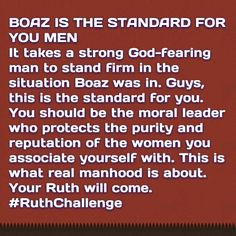 Now that you have a full painted picture do you see how the Boaz is ...