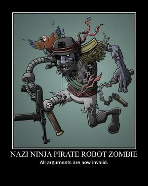 nazi ninja pirate robot zombie