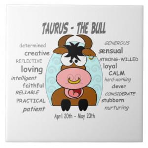 Taurus The Bull Zodiac Tile/Trivet
