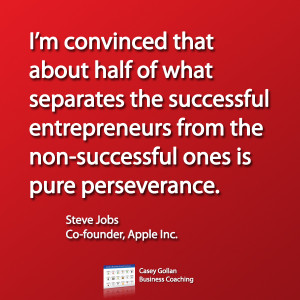 Steve Jobs Motivational Quote. Pure Perseverance.