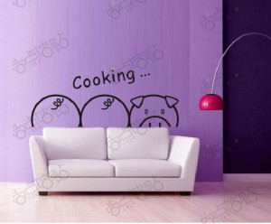 Cooking-3-font-b-Cute-b-font-Pig-Cartoon-Removable-Vinyl-Wall-Art ...