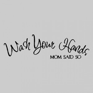Wash Your Hands..... Bathroom Wall Quotes Words Sayings Removable Wall ...