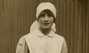 Vera Brittain as a Voluntary Aid Detachment nurse, 1915. Photograph ...